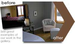 before and after pictures from the home staging collection